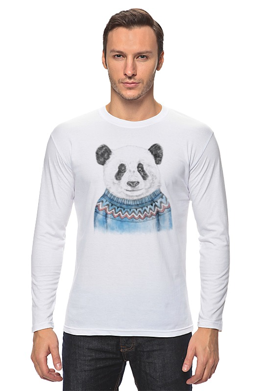 Лонгслив Printio Панда свитшот print bar панда гангста