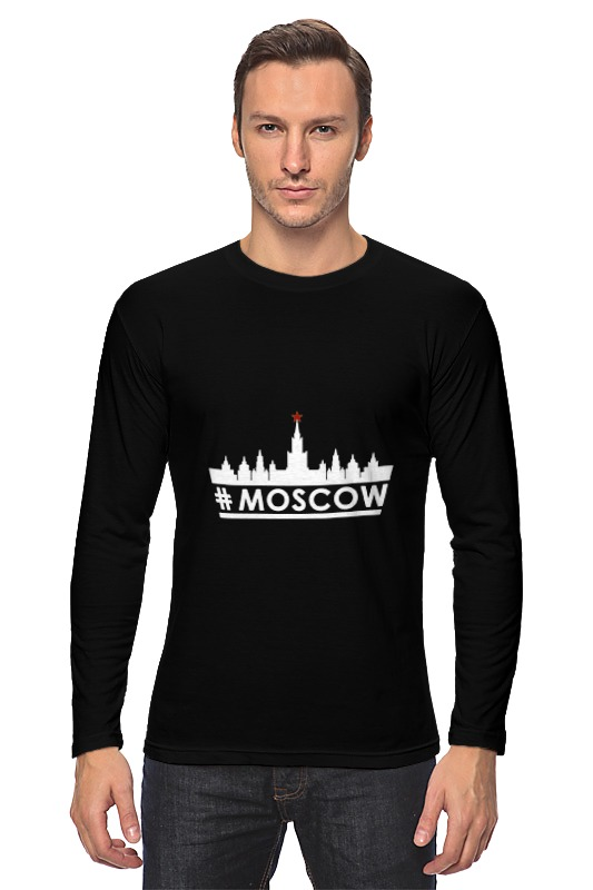Лонгслив Printio #moscow. лонгслив printio moscow city