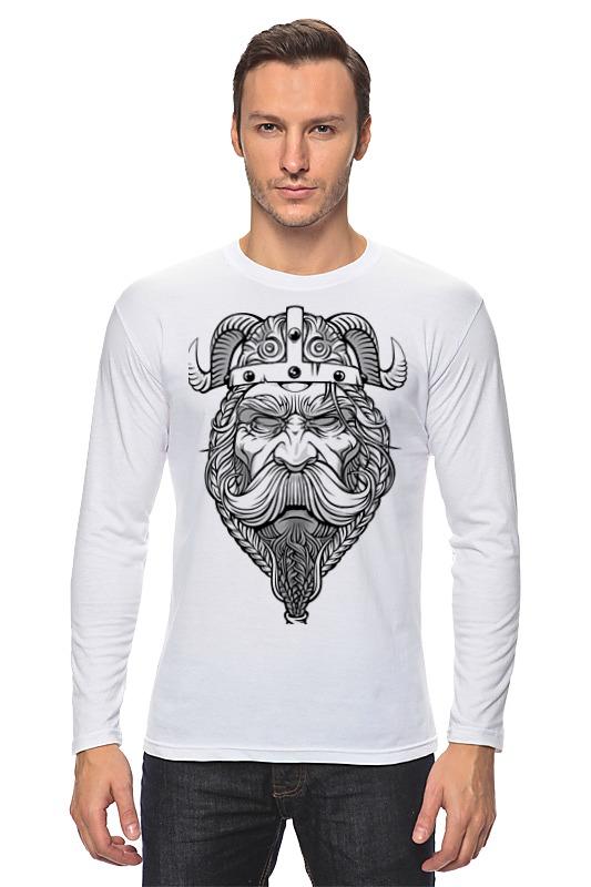 Лонгслив Printio Старый викинг - мудрый воин! футболка wearcraft premium slim fit printio старый викинг мудрый воин