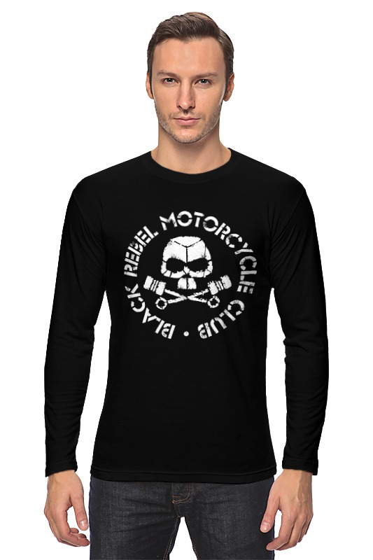 Лонгслив Printio Black rebel motorcycle club 6061 motorcycle black