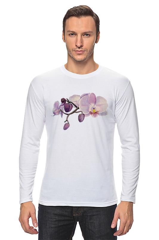 Лонгслив Printio Ветка орхидеи цветной тм орхидеи