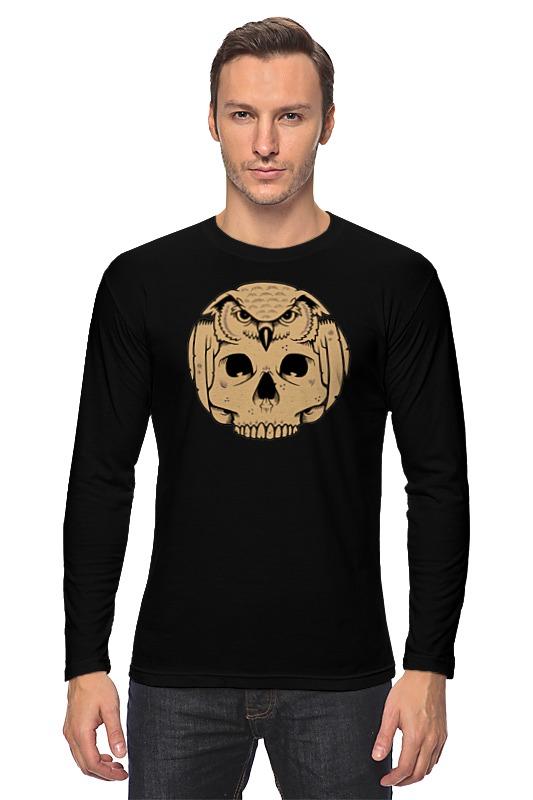 Лонгслив Printio Owl scull / сова и череп