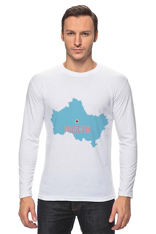Лонгслив Printio Московская область. москва