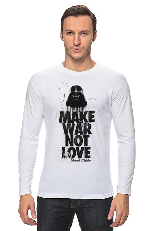 Лонгслив Printio Make war not love by darth weider футболка классическая printio make war not love by darth weider