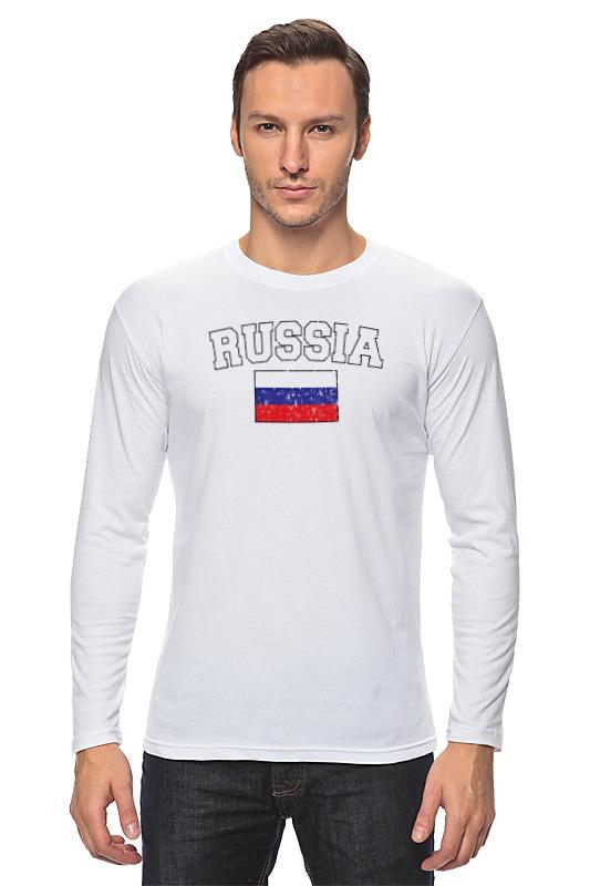 Лонгслив Printio Флаг - россия лонгслив printio россия украина