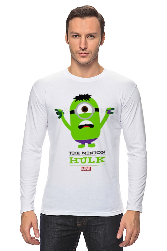 Лонгслив Printio The minion hulk футболка для беременных printio the minion hulk