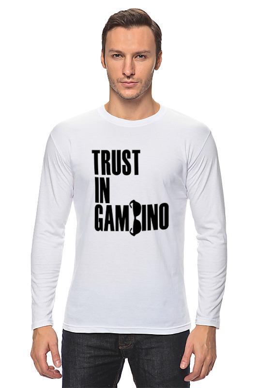 Лонгслив Printio Trust in gambino developing trust in ride sharing system