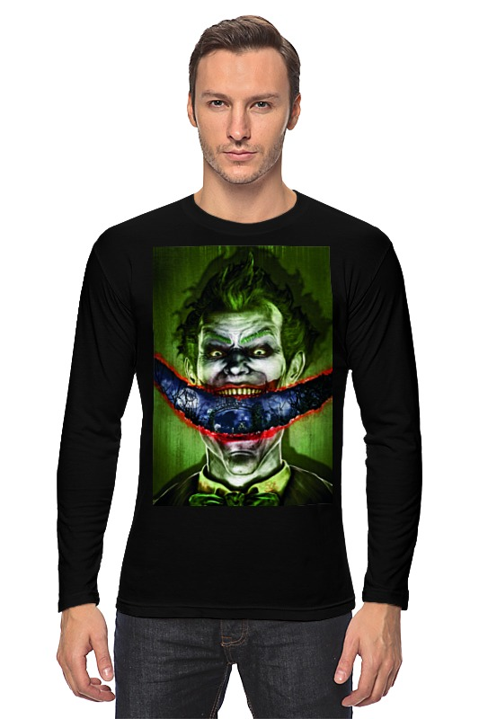 купить Лонгслив Printio Джокер по цене 1240 рублей