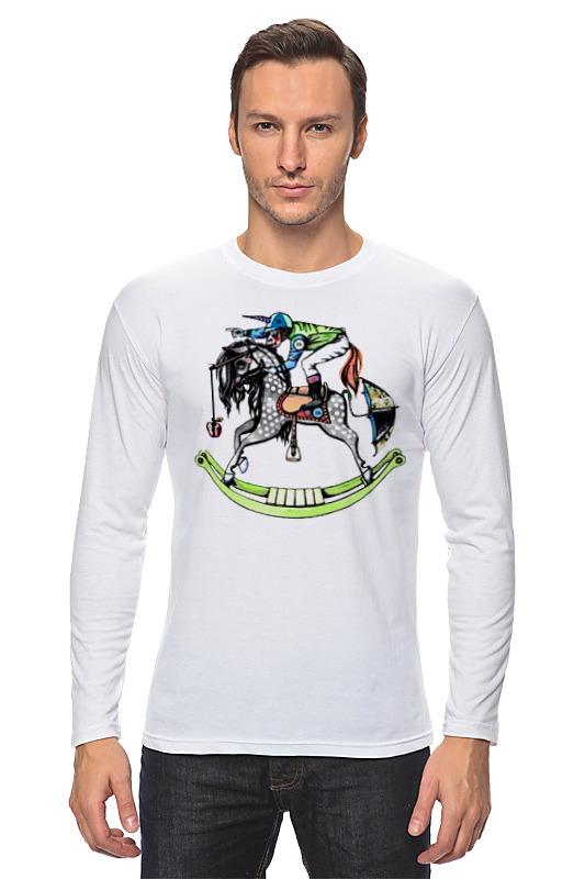 Лонгслив Printio Обезьяна на коне военная миниатюра атакующий английский рыцарь на коне