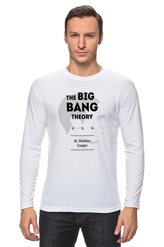 Лонгслив Printio Теория большого взрыва специальная теория относительности незаконченная дискуссия