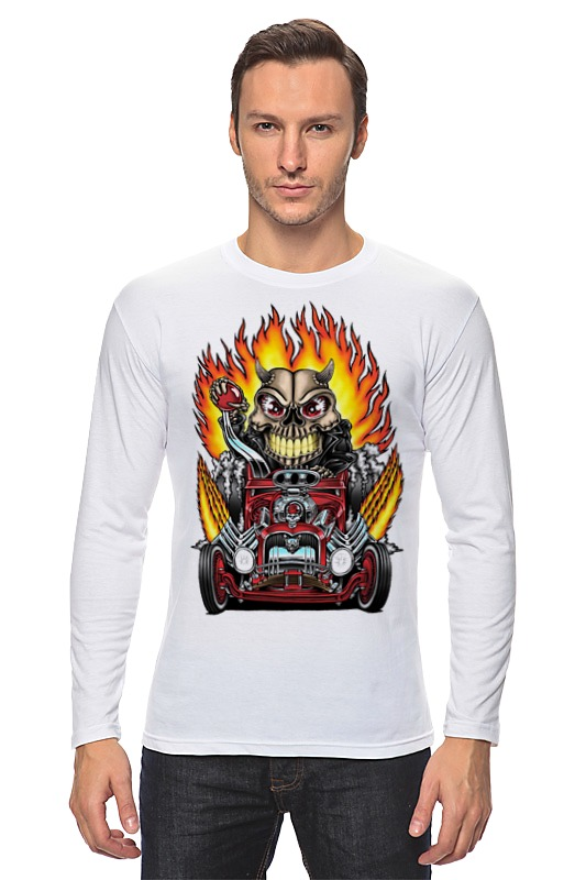 Printio Hot rod skull лонгслив printio skull color