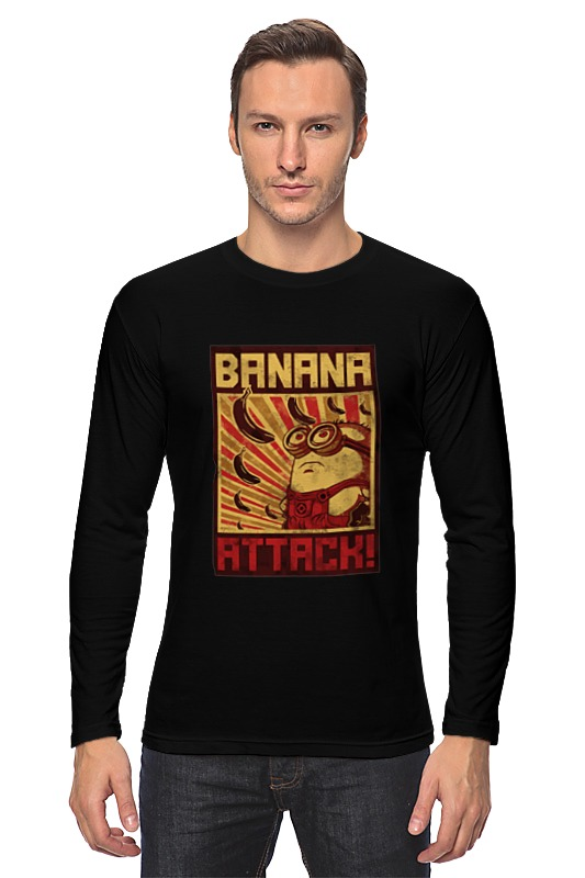 Лонгслив Printio Атака бананов кордщетка атака 26588