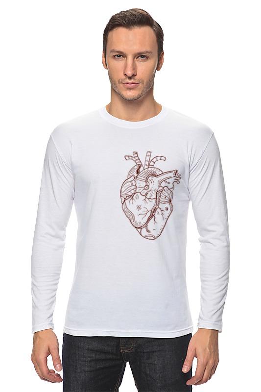Лонгслив Printio Сердце большого человека лонгслив printio акварель сердце из голубики