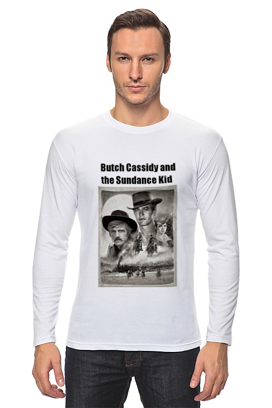 Лонгслив Printio Бутч кэссиди и санденс кид футболка wearcraft premium slim fit printio бутч кэссиди и санденс кид