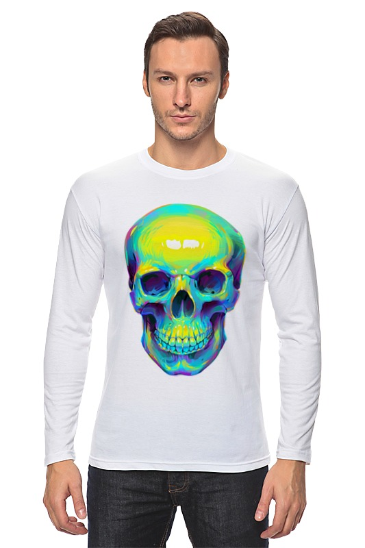 Printio Colorfull skull лонгслив printio skull color
