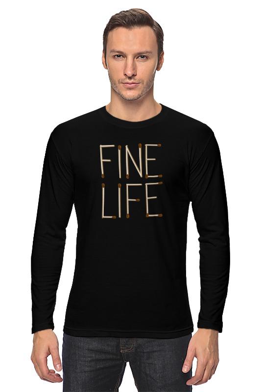где купить Лонгслив Printio Fine life по лучшей цене