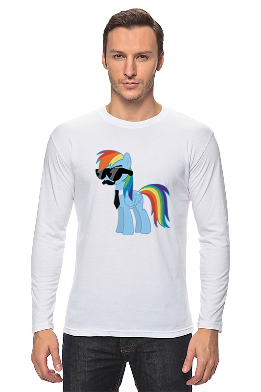 Лонгслив Printio My little pony - rainbow dash (радуга) лонгслив printio ma little banksy