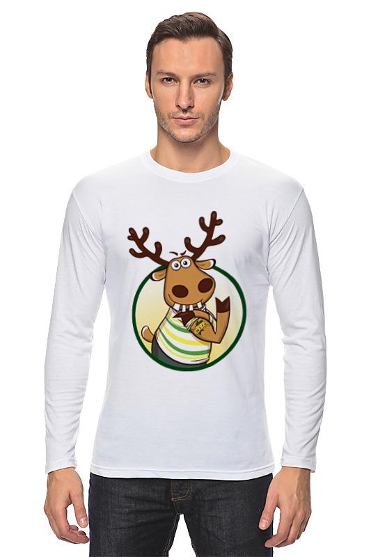 Лонгслив Printio Подслушано олень с тату рубашка поло printio подслушано олень с тату