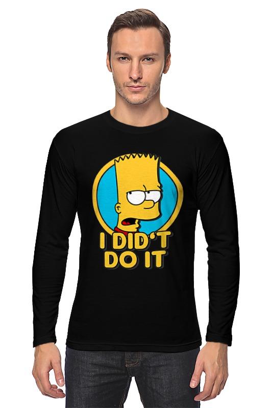 Лонгслив Printio Барт симпсон. я этого не делал
