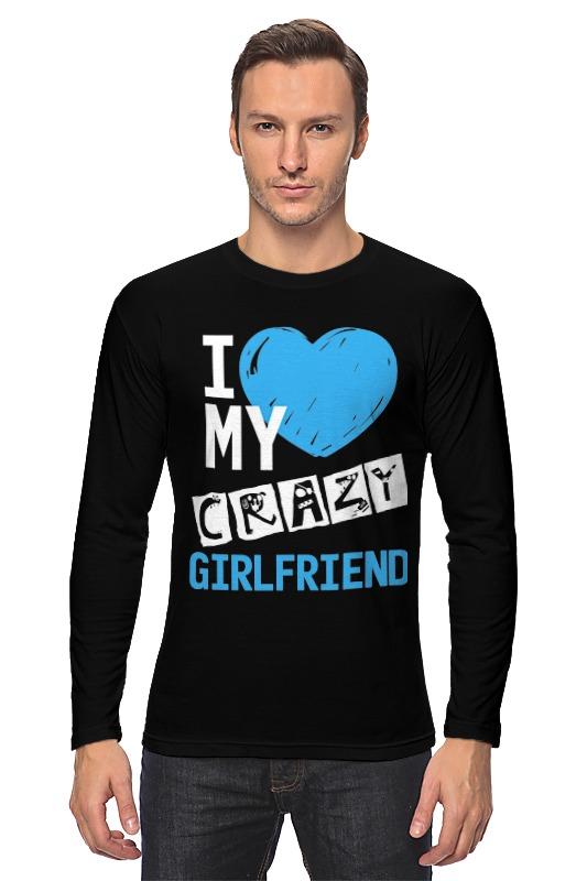 Лонгслив Printio Love my crazy girlfriend подвеска надпись love