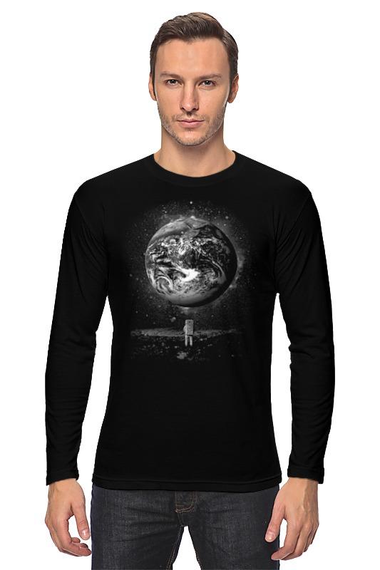 Лонгслив Printio Человек на луне научная литература о луне
