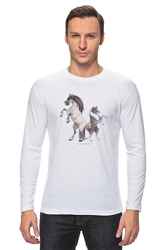 Лонгслив Printio Якутская лошадь/якутская лайка