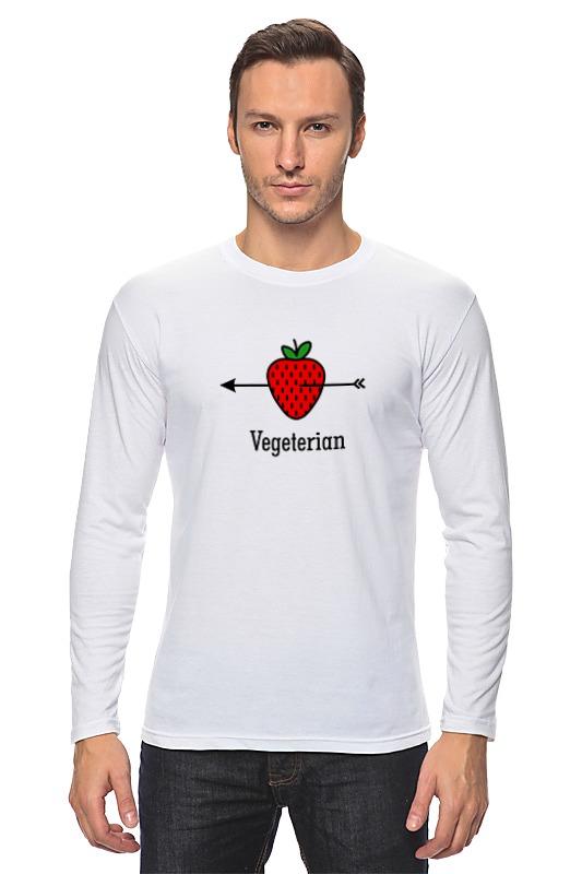 Лонгслив Printio Vegeterian отсутствует природные ресурсы и окружающая среда