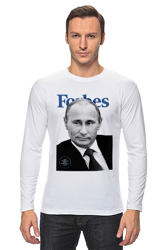 купить Лонгслив Printio Putin forbes недорого