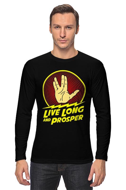 Лонгслив Printio Live long and prosper чехол для iphone 6 глянцевый printio live long and prosper star trek