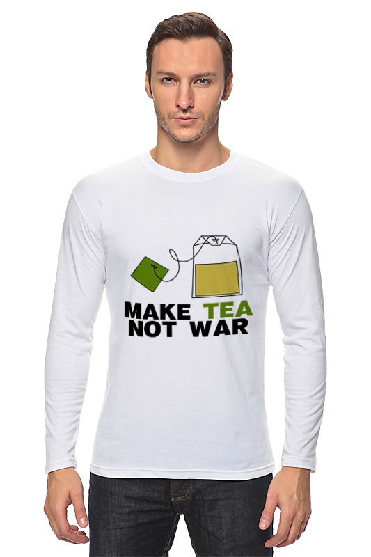 Лонгслив Printio Make tea not war tc 25кружка чай для любимого make tea not war love tea topchoice
