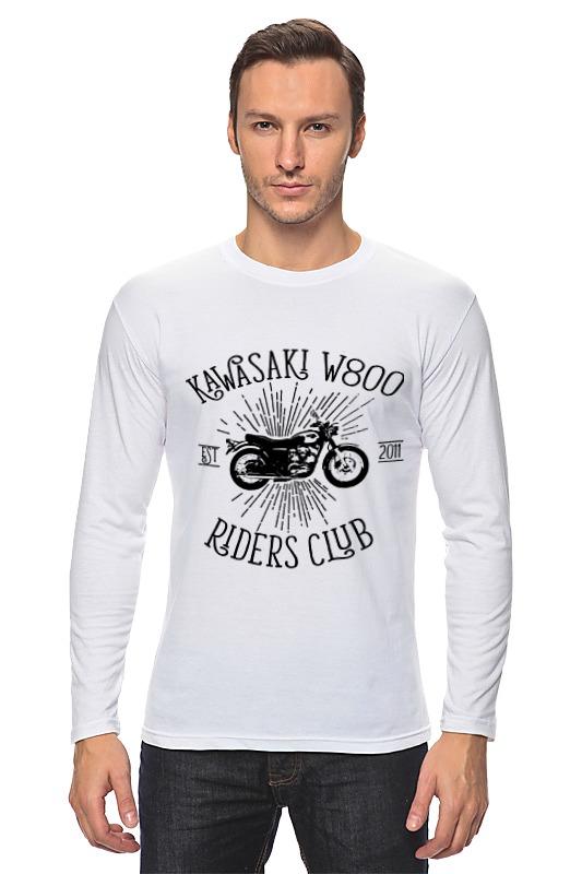 Лонгслив Printio Kawasaki w800 riders club