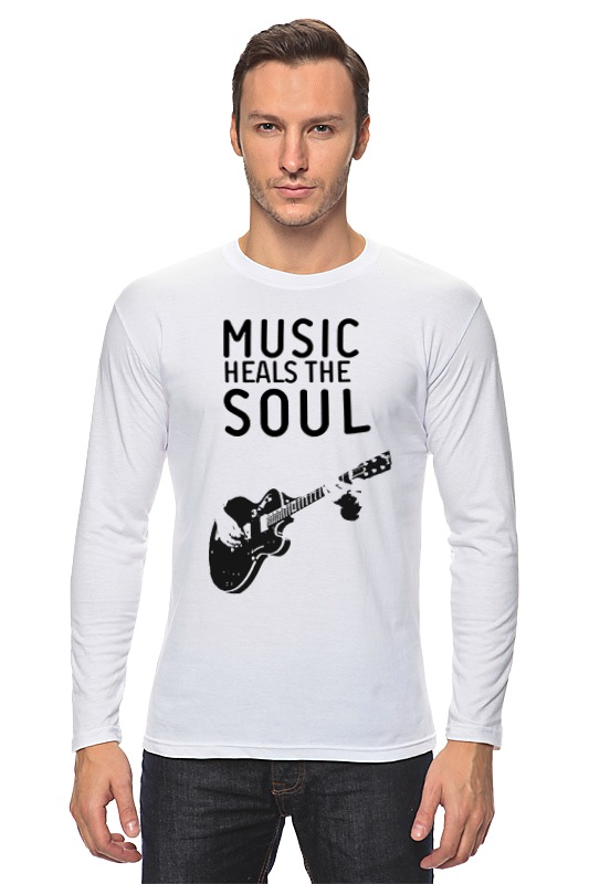 Лонгслив Printio Music heals the soul soul music