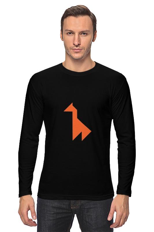 цена на Лонгслив Printio Оранжевый жираф танграм