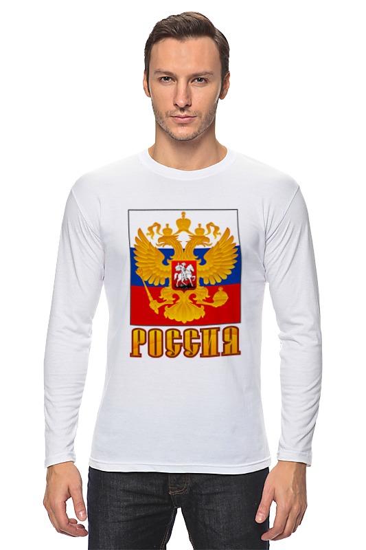 Лонгслив Printio Россия герб лонгслив printio россия украина