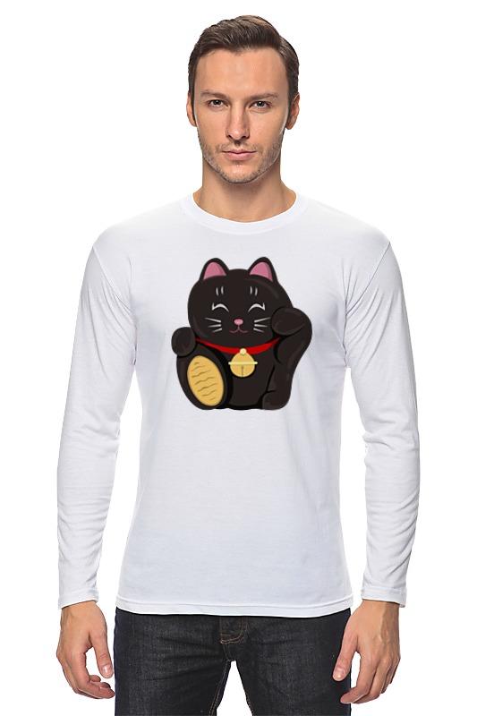 все цены на Лонгслив Printio Черный кот (манэки-нэко) онлайн