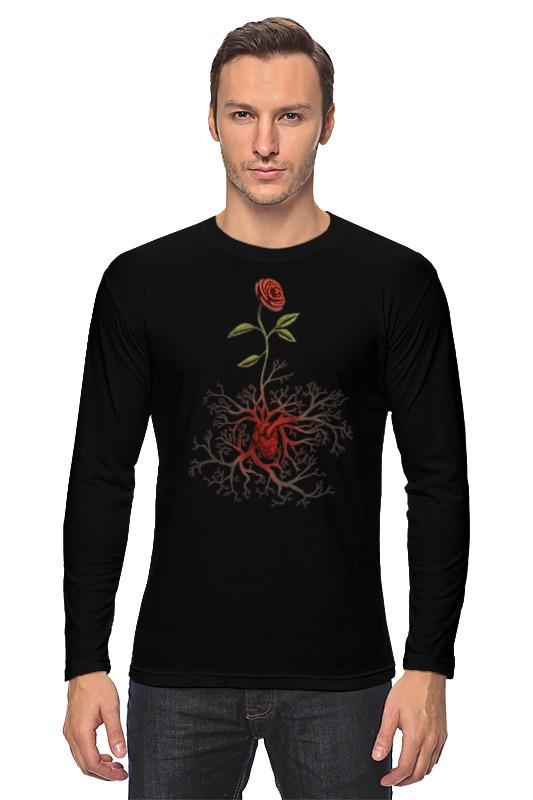 все цены на Лонгслив Printio Роза и сердце онлайн