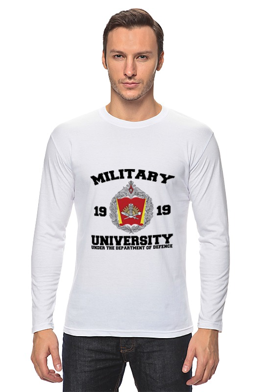 Лонгслив Printio 2016 военный университет мо рф (белая)