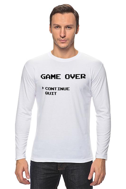 Лонгслив Printio Конец игры (game over) лонгслив printio game over