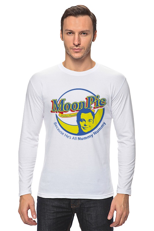 Лонгслив Printio Шелдон купер (moon pie) moon pie