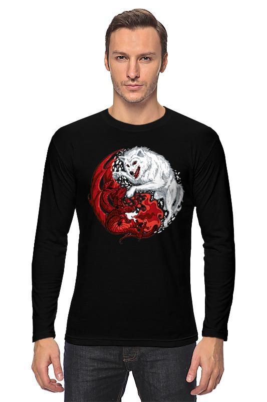 Лонгслив Printio Волк и дракон (игра престолов)
