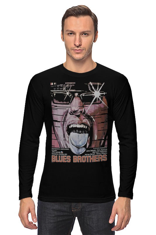Лонгслив Printio The blues brothers набор держателей для проводов peleg design the mark brothers