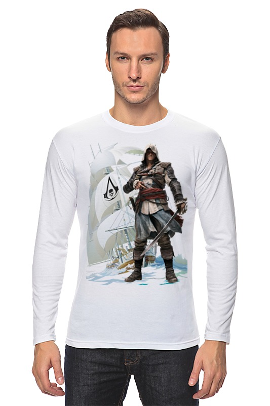 Лонгслив Printio Assassin's creed iv black flag сумка printio black flag