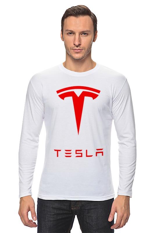Лонгслив Printio Тесла моторс цена и фото