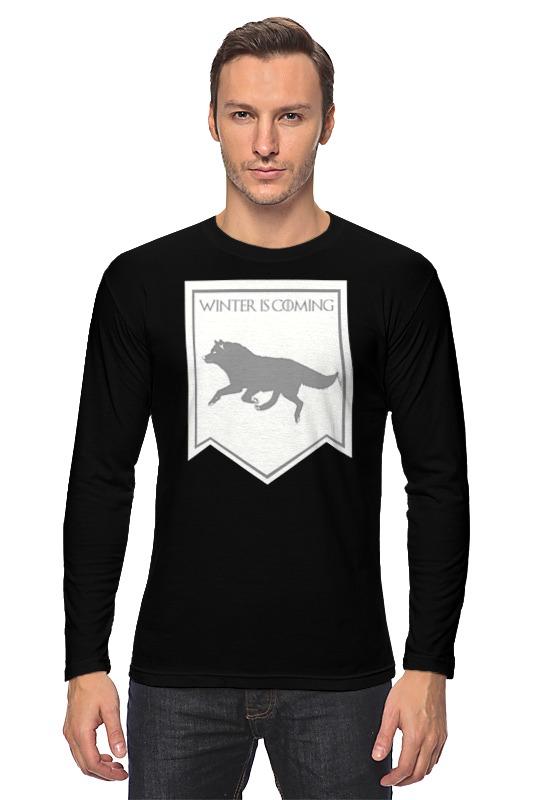 Лонгслив Printio Дом старков футболка с полной запечаткой женская printio ночной городок