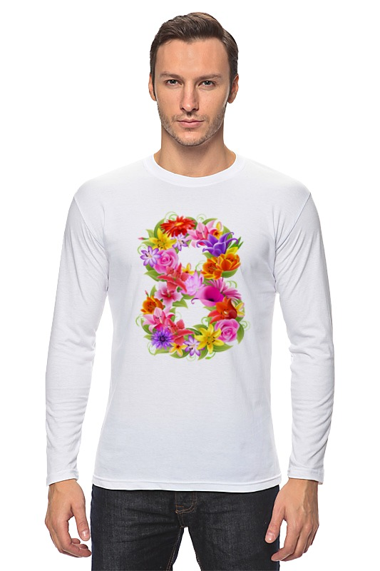 Лонгслив Printio 8 марта! рубашка 1001dress 8 марта женщинам