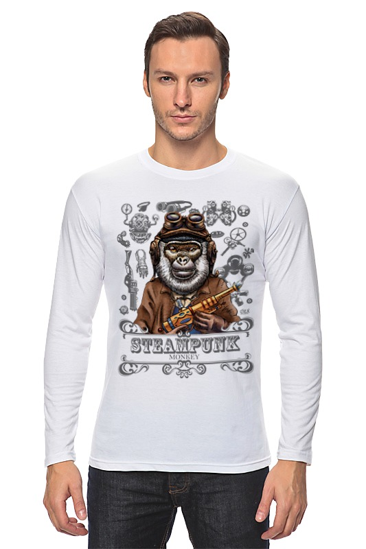 Лонгслив Printio Steampunk monkey лонгслив printio the steampunk