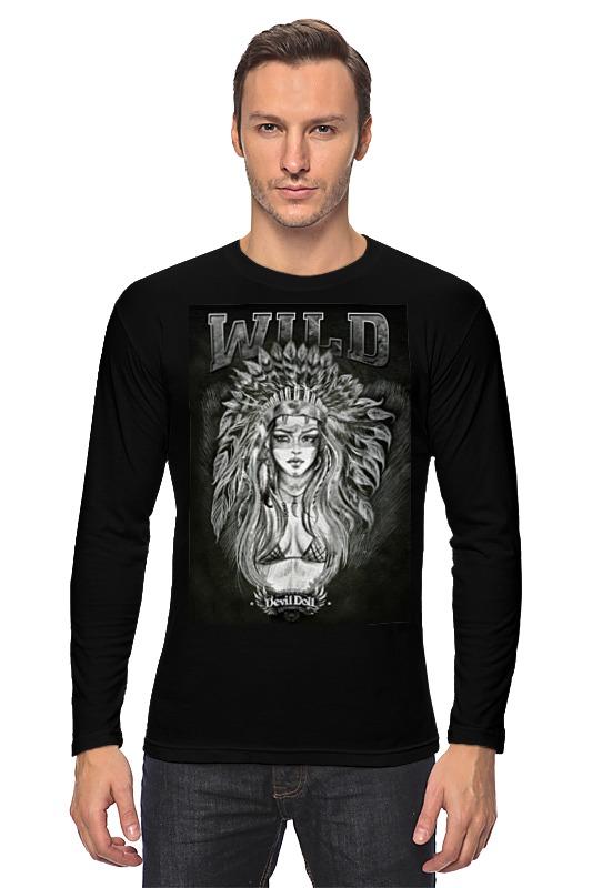 Лонгслив Printio wild by devildoll детская футболка классическая унисекс printio wild by devildoll