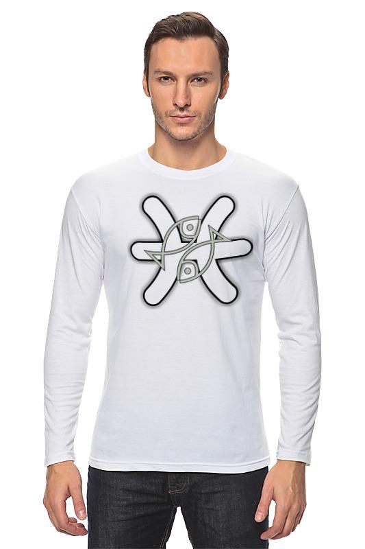 Лонгслив Printio Знак зодиака рыбы. футболка классическая printio знак зодиака рыбы