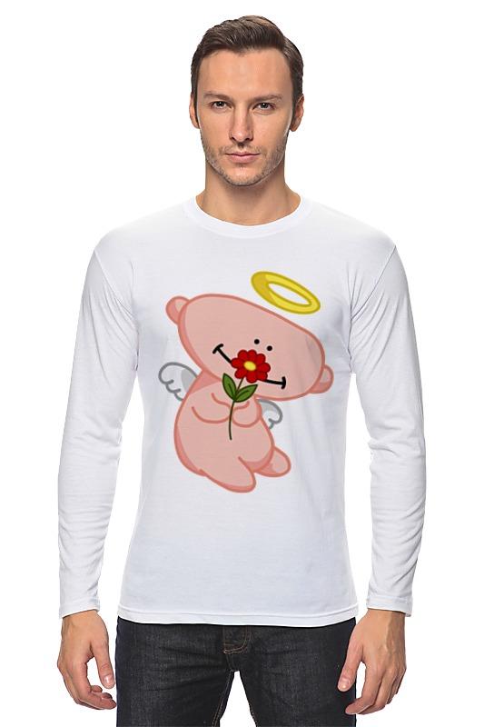 Лонгслив Printio Ангел с цветком анатолий ярмолюк поспорил ангел с демоном