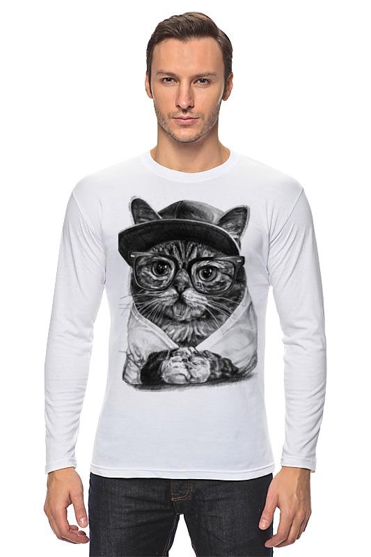 Лонгслив Printio Крутой кот майка классическая printio крутой кот